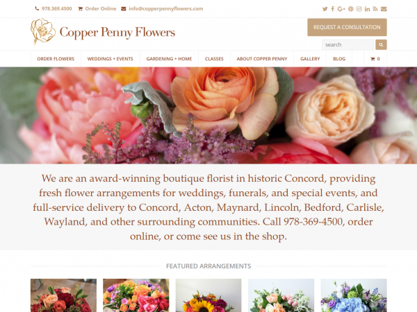 Copper Penny Flowers
