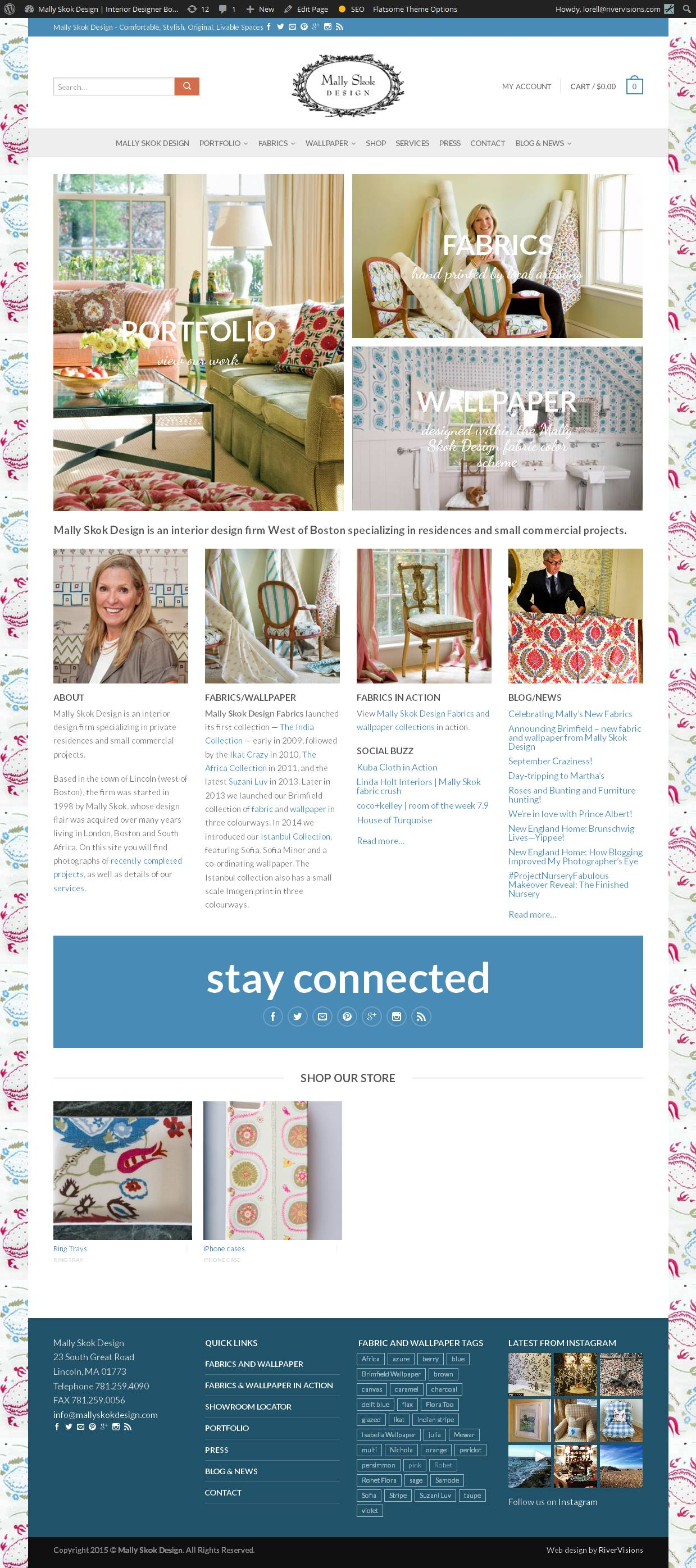 Mally Skok Design Interior Designer Boston Fabric Designer